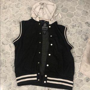American Rag sweatshirt vest with hoodie